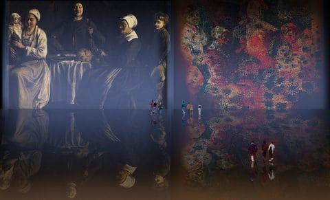 Familia Feliz, ambientación de Louis Le Nain (1642), reconversión de Pablo Picasso (1917).