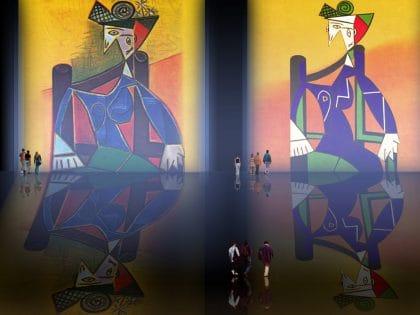 Dora Maar, traducción de Pablo Picasso (1941), interpretación de (1963).