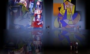 Odaliscas (Mujeres de Argel) yuxtaposición y deconstrucción de Pablo Picasso (1955), síntesis de Roy Lichtenstein (1963).
