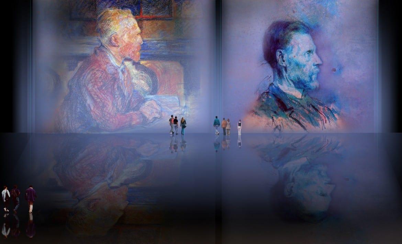 Mentores, homenaje a Vincent van Gogh de Henri de Toulouse Lautrec (1887), y al padre de Pablo Picasso (1896).