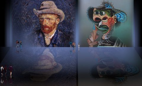 Autoretratos, introspecciones de Vincent van Gogh (1887), contrastaciones de Pablo Picasso (1938).