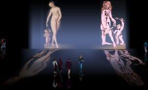 Venus y Cupido, versiones de los Cranach, el Viejo (1529) maestro fundador de la escuela flamenca, interpretaciones y paráfrasis de Pablo Picasso (1957).
