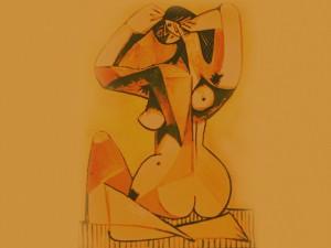 Bañándose, propuestas de Edgar Degas (1883), variaciones sobre un mismo tema de Pablo Picasso (1952)