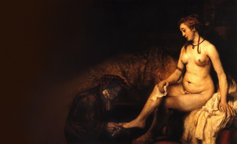 Baño de Betsabé, interpretación de Rembrandt Hamenzoon van Rijn (1654) recreaciones de Pablo Picasso (1963), (1966)
