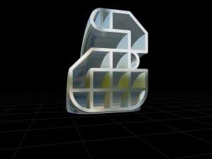 Caracteres tipográficos 3D
