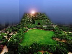 Fukuoka, ministerio con parque piramidal / Emilio Ambász, realizador de utopía