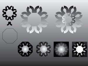 Generación de módulos de multiplo de 8 transformaciones, rotaciones y reflecciones.