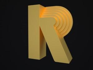 Perceptualizaciones del Estudio de Arqué Poética y Visualística Prospectiva para Takenobu Igarashi letra  R (fractalidad)