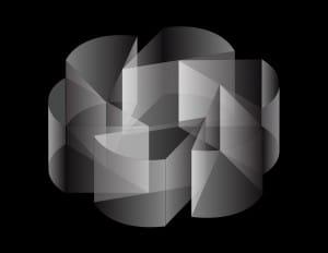 Sistema de Organización Radial con módulo de 3 y 1/4 circuferencia
