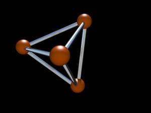 tetrahedron spiky correlaciones color