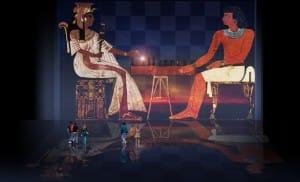 Senet Lujoso sistema de objetos lúdicos obsequio del dios Toht a la faraona Nefertari
