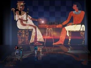 Senet / Lujoso sistema de objetos lúdicos obsequio del dios Toht a la faraona Nefertari